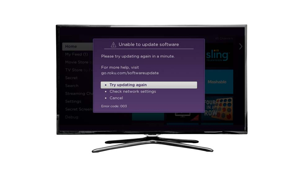 TV with Error Code 011