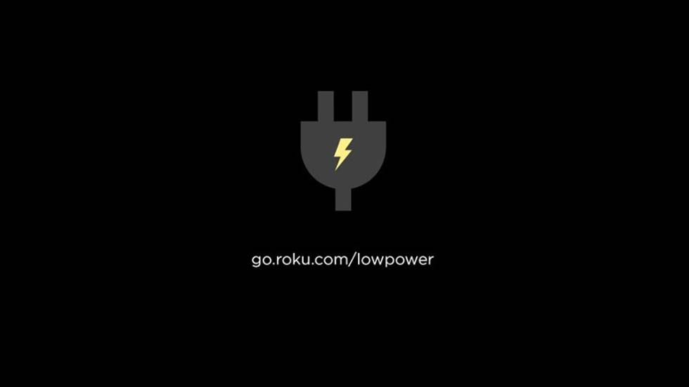 Roku Low Power Warning Screen